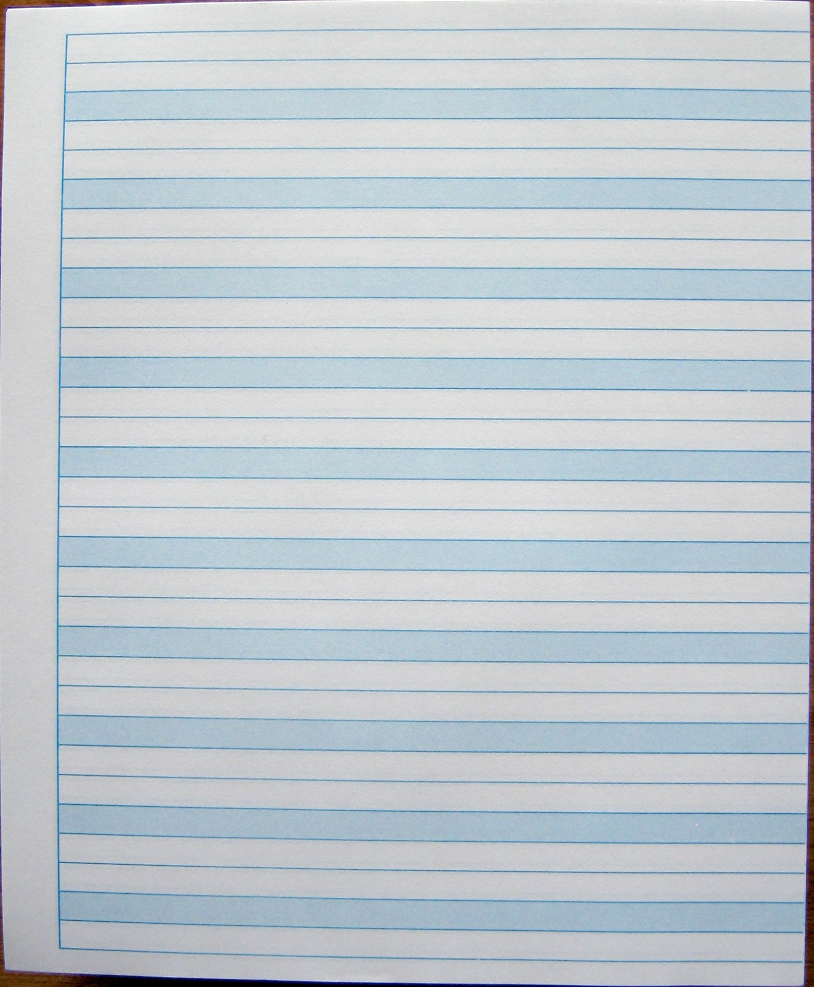 56 blue shaded writing paper - sheet size 8 5 u0026quot  x 7 u0026quot
