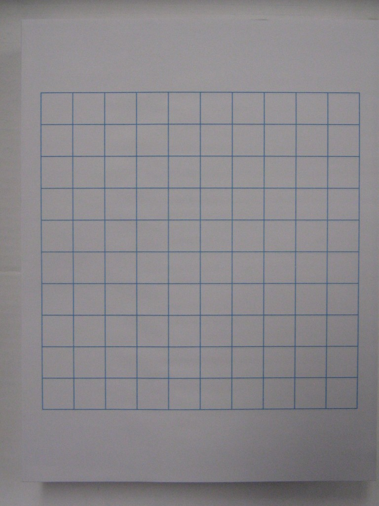 "8 5x11 Eddm Printing: #10 Letter Sized 3/4"" Graph Paper"