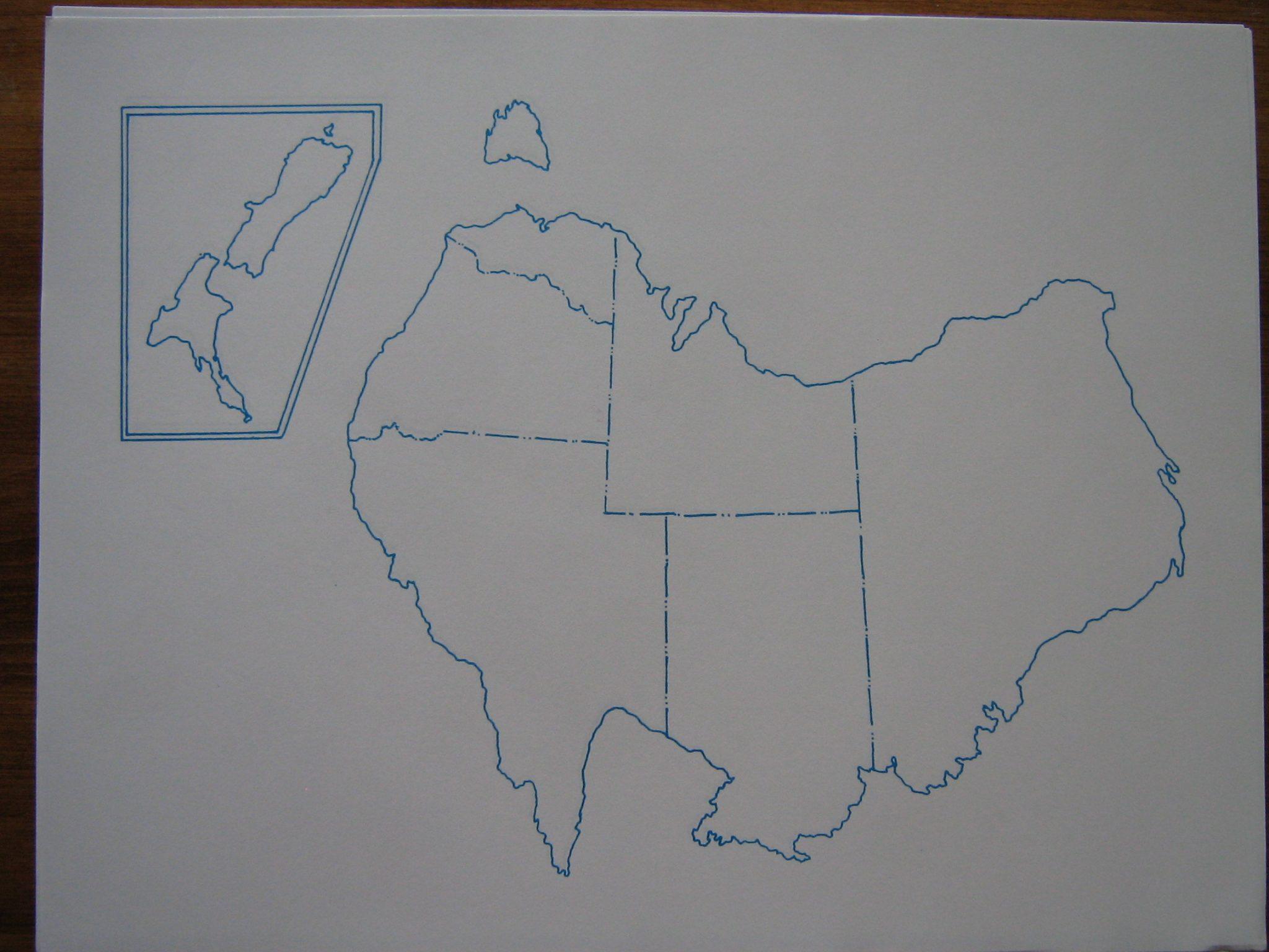 Map Of Australia Unlabelled.Mau Australia Letter Size Map 250 Sheets Pkg