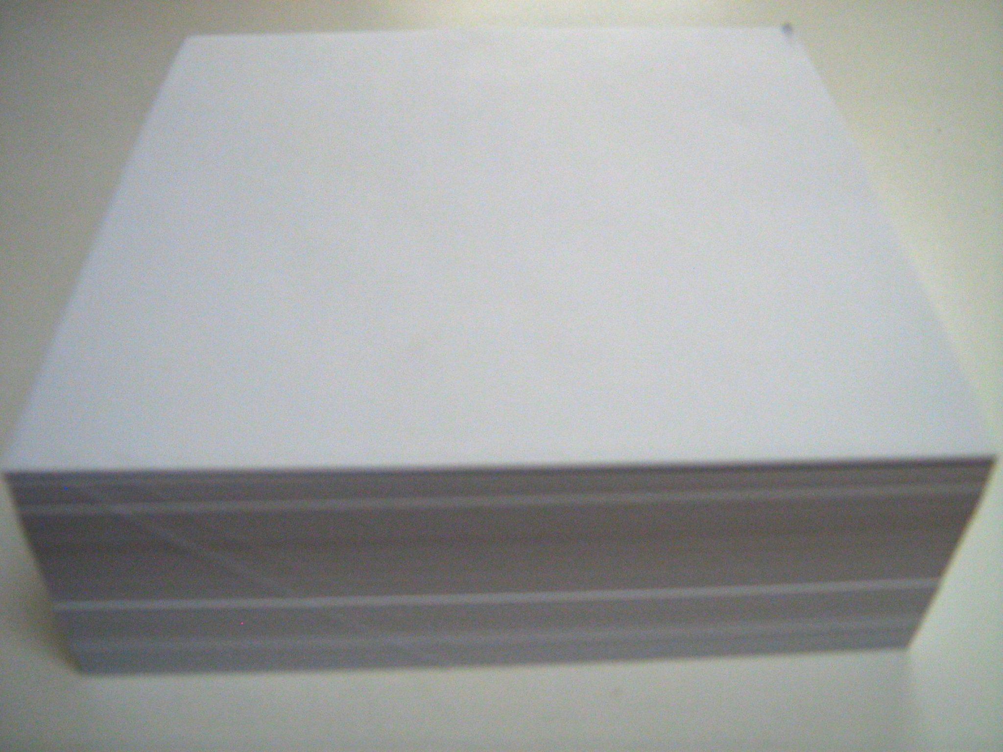 25 White Metal Inset Paper 5 5 Quot X 5 5 Quot 500 Sheets Pkg