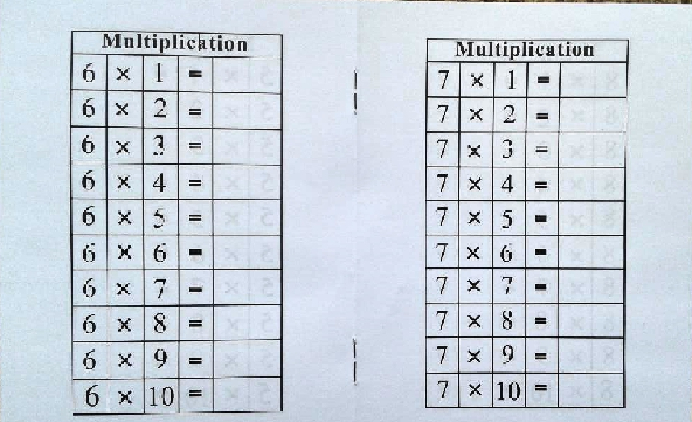 26 Multiplication Booklets \